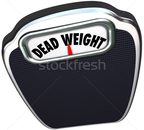 Dead Weight Words Scale Useless Inefficient Heavy Burden  Stock photo © iqoncept