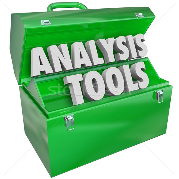 Analysis Tools Toolbox Evaluation Examination Measurement Stock photo © iqoncept