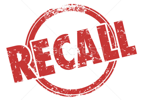 Recall Word Red Stamp Defective Product Fix Repair Stock photo © iqoncept