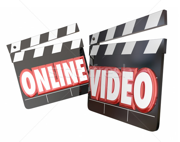 Online video horloge streaming film Stockfoto © iqoncept