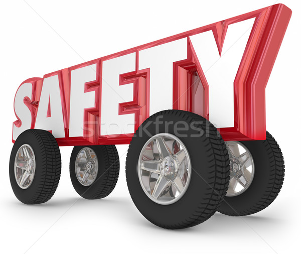 Safety Wheels Tires Driving Road Rules Safe Travel Stock photo © iqoncept
