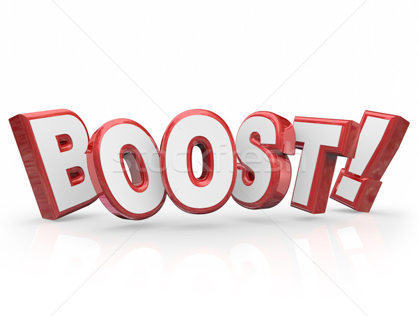 Boost Word Increase Rising Advancement Energy Stock photo © iqoncept