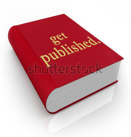 Book Red 3d Cover Novel Fiction Advice Help Manual  Stock photo © iqoncept