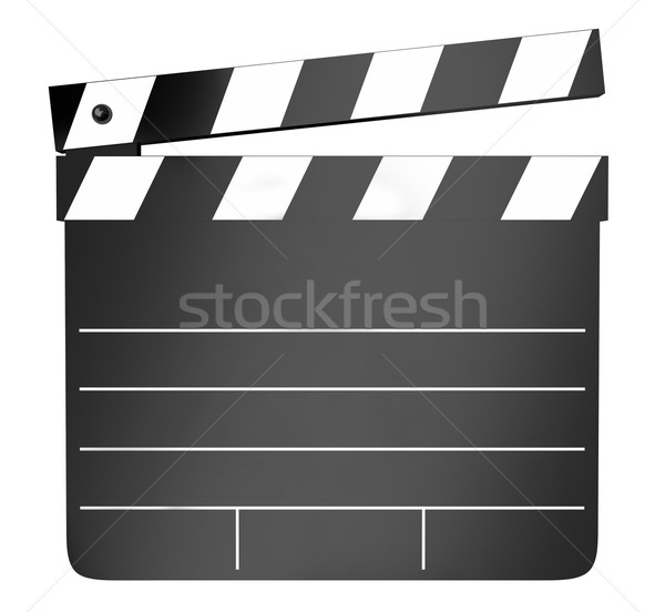 Movie Film Clapper Board Production Shooting Stock photo © iqoncept