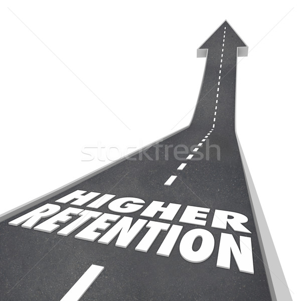 Higher Retention Increase Improve Hold Customers Employees Stock photo © iqoncept