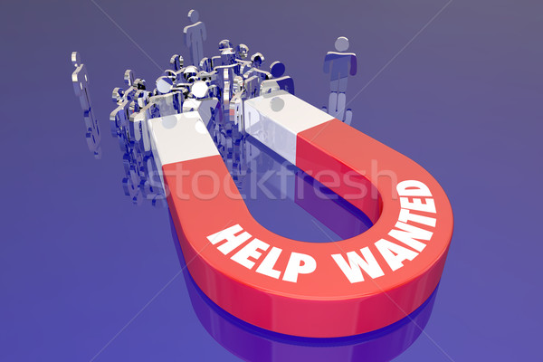 Help Wanted Magnet Listing Open Job Career Workers Candidates Pe Stock photo © iqoncept