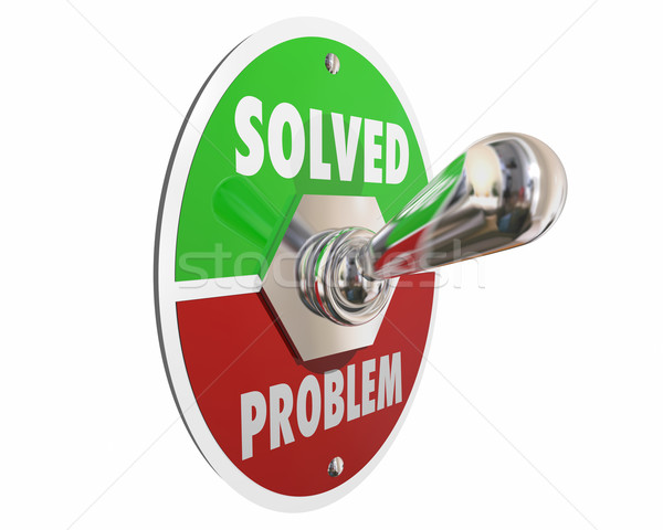 Problem Solution Solved Switch On Fix Repair 3d Illustration Stock photo © iqoncept