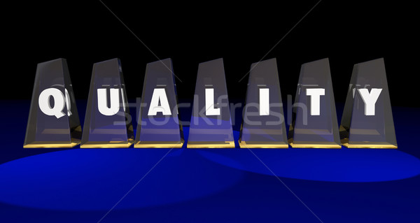 Quality Top Best Value Awards Letters Word 3d Illustration Stock photo © iqoncept