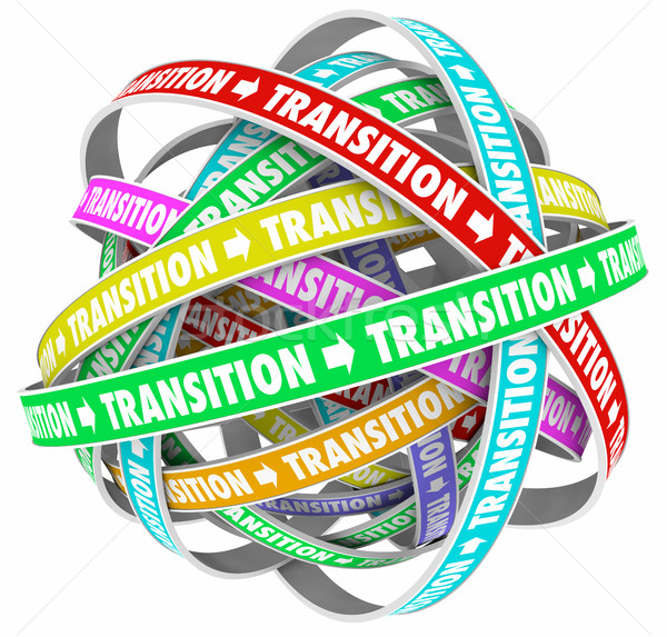 Transition Change Process Evolution Words Loops 3d Illustration Stock photo © iqoncept