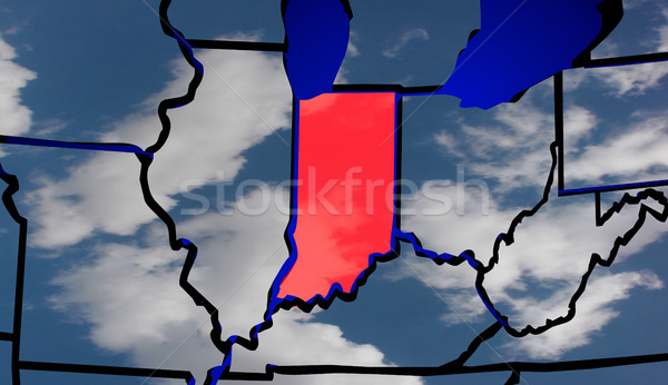 Indiana IN Weather USA Map United States America Climate Change  Stock photo © iqoncept