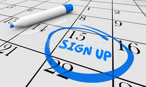 Stockfoto: Teken · omhoog · termijn · datum · dag · kalender