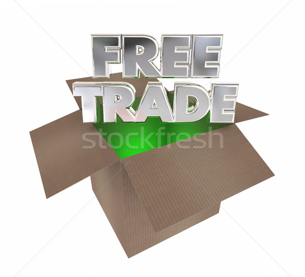 Free Trade International Commerce Boxes Shipments 3d Illustratio Stock photo © iqoncept