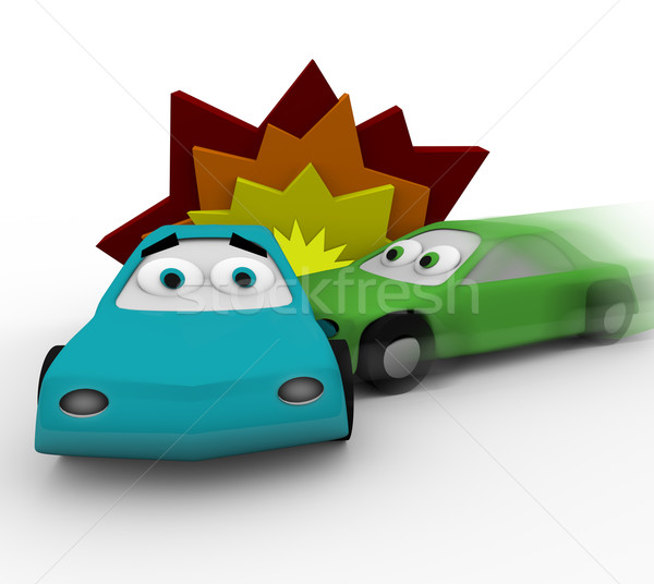 Crash - Two Cars in Accident Stock photo © iqoncept