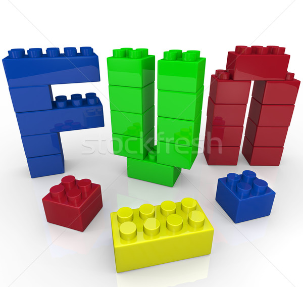 Fun Word Built with Toy Building Blocks Stock photo © iqoncept