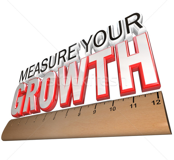 Ruler - Measure Your Growth Tracking Progress to Goal Stock photo © iqoncept