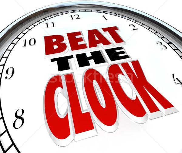 Slaan klok woorden termijn countdown Stockfoto © iqoncept