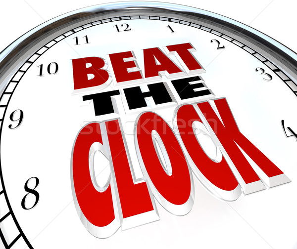 Vencer reloj palabras fecha tope cuenta atrás Foto stock © iqoncept