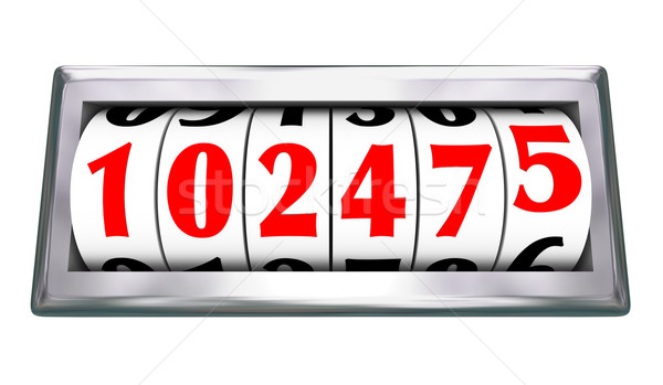 Odometer Wheels Numbers Age Mileage of Vehicle Stock photo © iqoncept