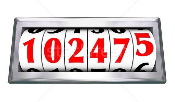 одометр Колеса номера возраст автомобиль мили Сток-фото © iqoncept