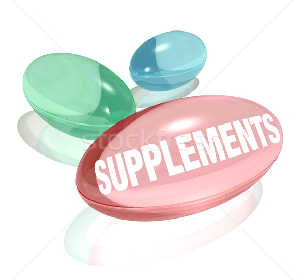 Supplements Vitamins for Healthy Living Wellness Stock photo © iqoncept