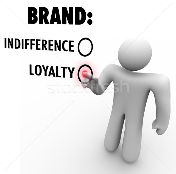 Brand Loyalty Vs Indifference Customer Chooses Preference Stock photo © iqoncept