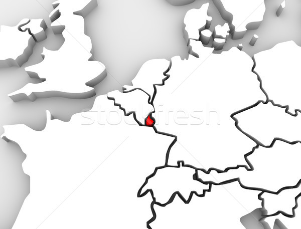 Luxembourg 3d Abstract Map Europe Stock photo © iqoncept