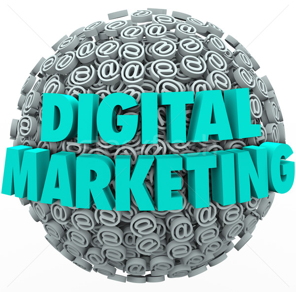 Digital marketing on-line internet campanha teia Foto stock © iqoncept