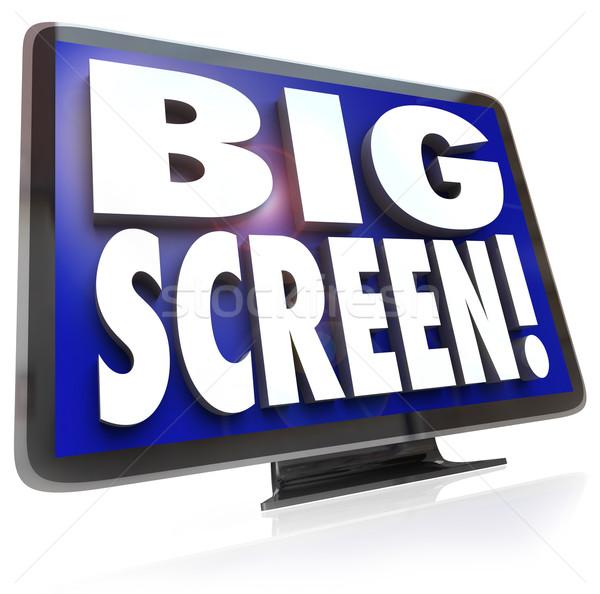 ビッグ 画面 表示 モニター 単語 テレビ ストックフォト © iqoncept