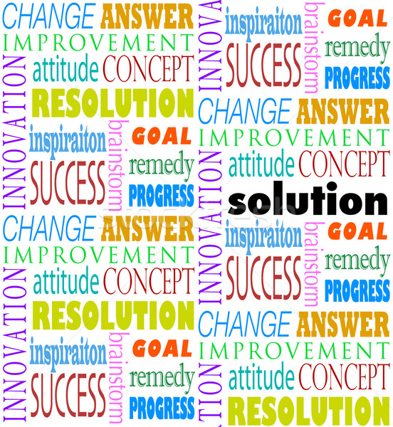 Solution Answer Goal Mission Word Background Stock photo © iqoncept