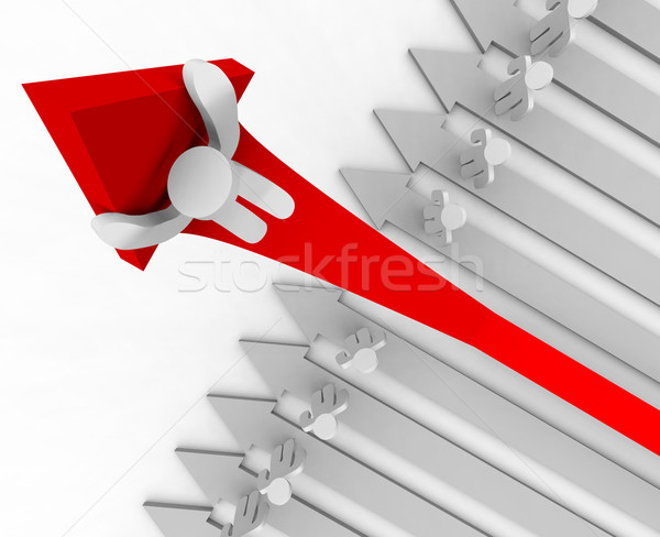Riding Up the Growth Arrow - Angle Stock photo © iqoncept