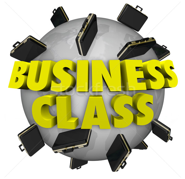 Business Class Briefcases Around World First Class Travel Flight Stock photo © iqoncept