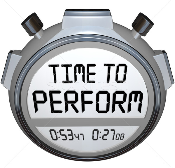 Time to Perform Stopwatch Timer Clock Action Needed Stock photo © iqoncept