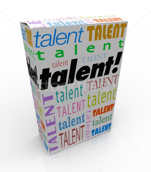 Talent mot produit boîte vendre Photo stock © iqoncept