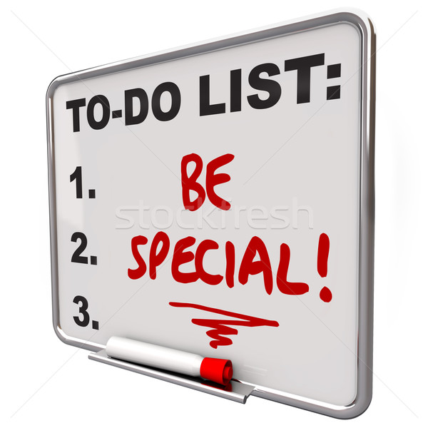 Be Special To Do List Dry Erase Board Unique Different Distincti Stock photo © iqoncept
