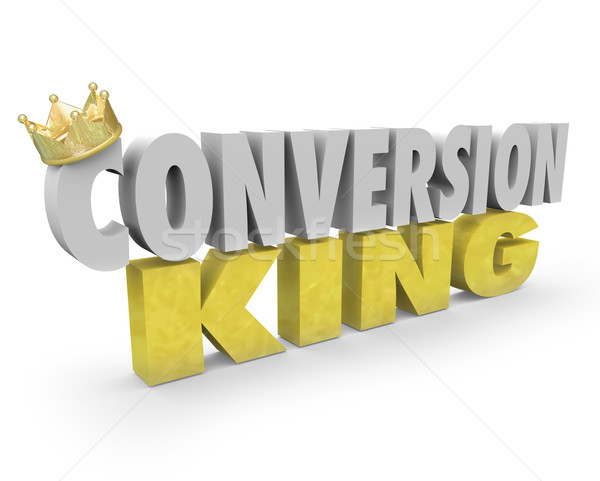 Conversion King Words Top Sales Leader Consultant Selling Expert Stock photo © iqoncept