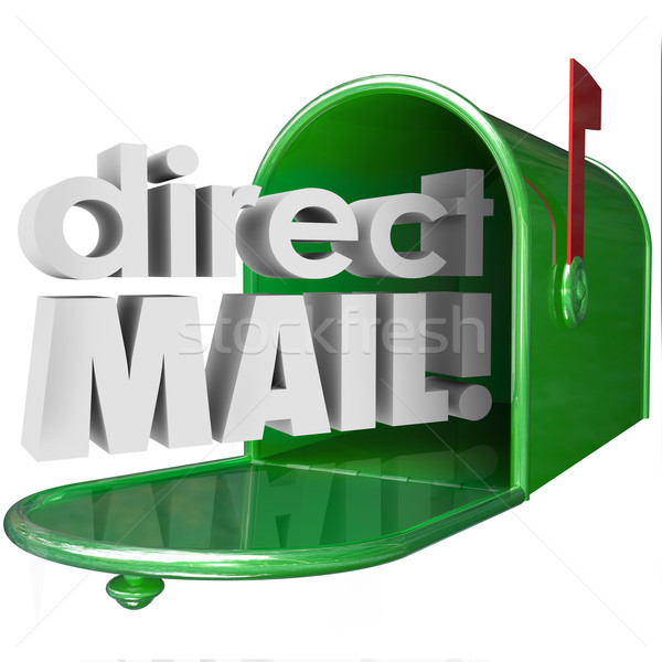 Direct mail woorden mailbox reclame marketing Stockfoto © iqoncept