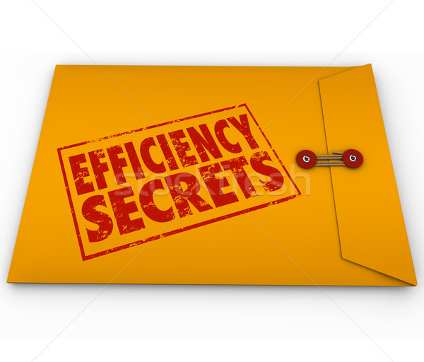 Efficiency Secrets Yellow Classified Envelope Confidential Tips  Stock photo © iqoncept