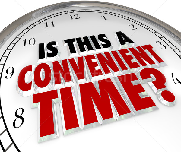 Is This a Convenient Time Question Clock Stock photo © iqoncept