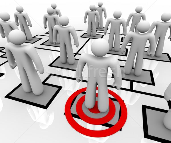 Megcélzott alkalmazott szervezeti felépítés piros cél egy Stock fotó © iqoncept
