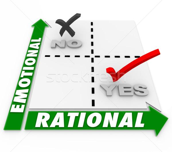 Vs elección la toma de decisiones mejor opción Foto stock © iqoncept