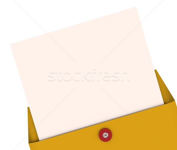 Opening Envelope Letter Top Secret Information Blank Copy Space  Stock photo © iqoncept