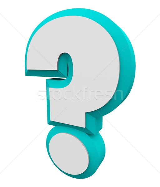 3d Question Mark Blue Asking Inquiry Get Find Answers Informatio Stock photo © iqoncept