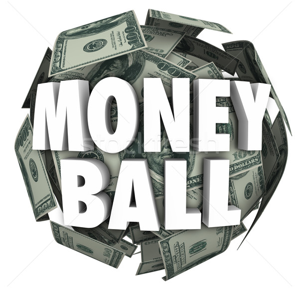 Money Ball 3d Words Sports Stats Winning Cash Gambling Stock photo © iqoncept