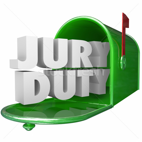 Jury Duty Mailbox Notice Letter Legal Responsibility Stock photo © iqoncept