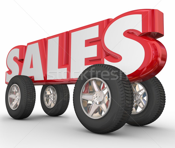 Auto Car Sales 3d Word Wheels Tires Stock photo © iqoncept