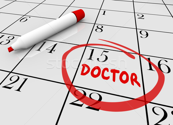 Doctor Appointment Health Care Check Up Physical Calendar 3d Ill Stock photo © iqoncept