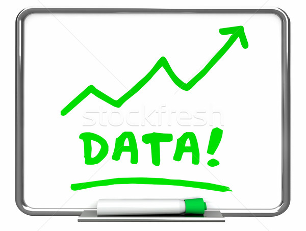 Data Numbers Information Erase Board Arrow 3d Illustration Stock photo © iqoncept