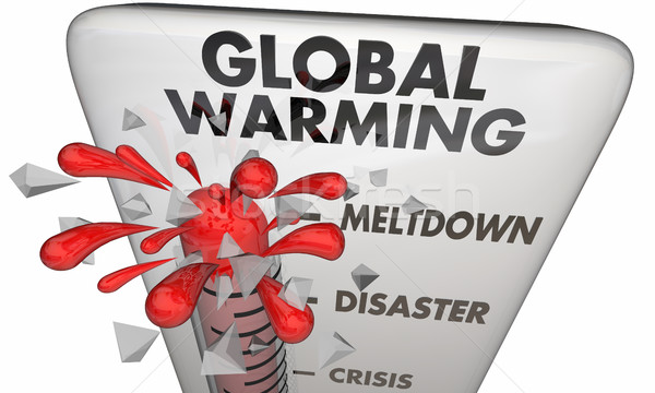 Global Warming Climate Change Crisis Thermometer 3d Illustration Stock photo © iqoncept