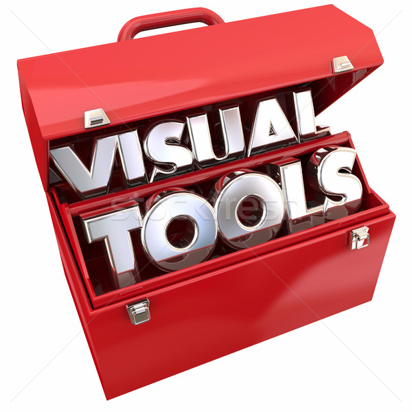 Visual Tools Learning Education Resources Toolbox 3d Illustratio Stock photo © iqoncept