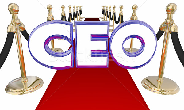 Chief Executive Officer CEO Red Carpet Event 3d Illustration Stock photo © iqoncept